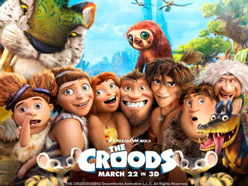 The Croods is a journey of the caveman family to a new incredible world filled with suprises. This Nicolas Cage, Emma Stone and Ryan Reynolds-voiced 3D animated movie is one of the kind. Check out some stills of the movie.