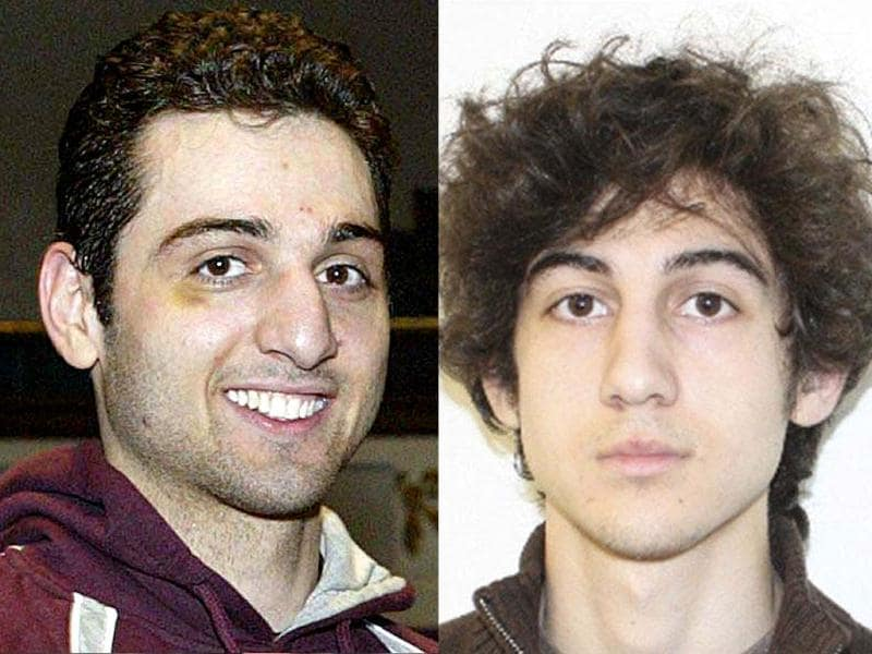 A combination picture of Tamerlan Tsarnaev (26), left, and his brother Dzhokhar Tsarnaev (19) is seen in this undated FBI handout photo. (Reuters)