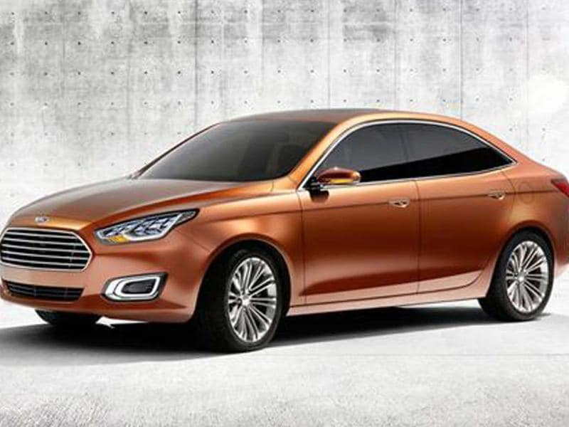 New compact Ford saloon concept, designed specifically for Chinese market, tipped for production