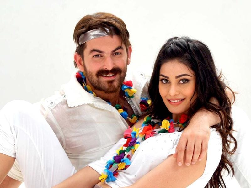 Neil Nitin Mukesh and Puja Gupta pose for a photo during a promotion for the upcoming romantic thriller Shortcut Romeo. AFP Photo