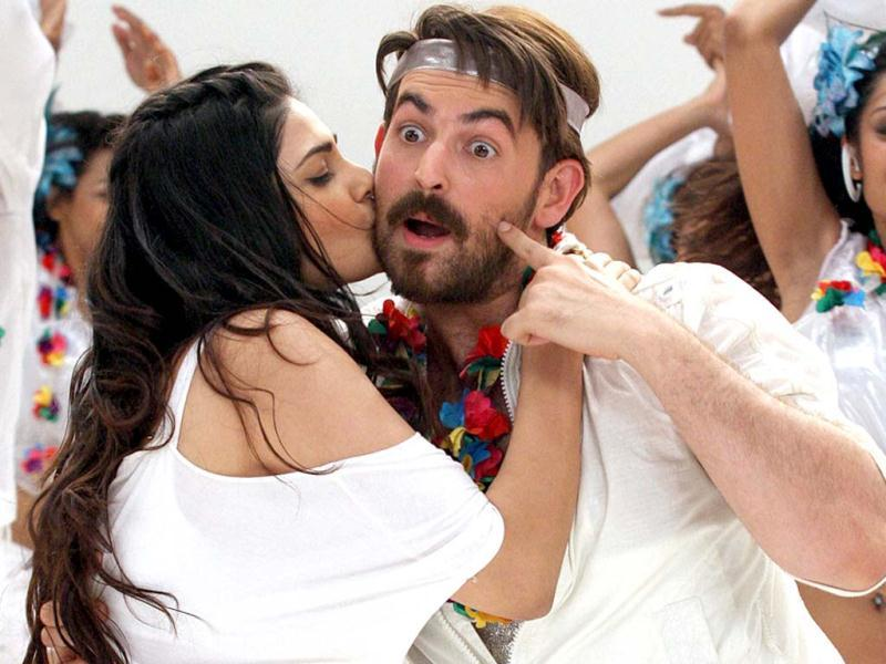 Neil Nitin Mukesh and Puja Gupta pose for a photoshoot to promote their upcoming film Shortcut Romeo at Filmistan studio in Mumbai on April 21. Check'em out! PTI Photo