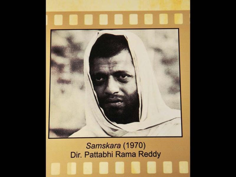 Samskara, 1970, is a Kannada film written by UR Ananthamurthy and directed by Pattabhi Rama Reddy. The film starring Girish Karnad is said to have pioneered the parallel cinema movement in Kannada. (Photo: Arijit Sen/Hindustan Times)