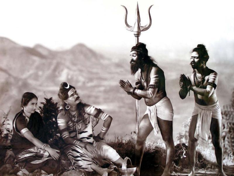 A still from Gangavataran (1937), Dadasaheb Phalke's last production.