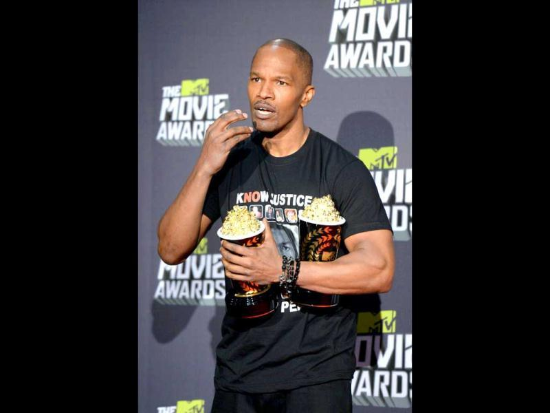 Django Unchained star Jamie Foxx reportedly paid some $20,000 for a crocodile skin jacket! WHAT!
