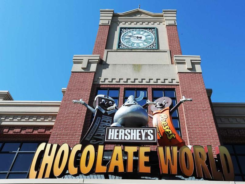 Hershey's great chocolate factory mystery in 4D in Hershey, Pennsylvania. The first show of its kind opens to the public on Saturday, May 4, 2013. (AP)