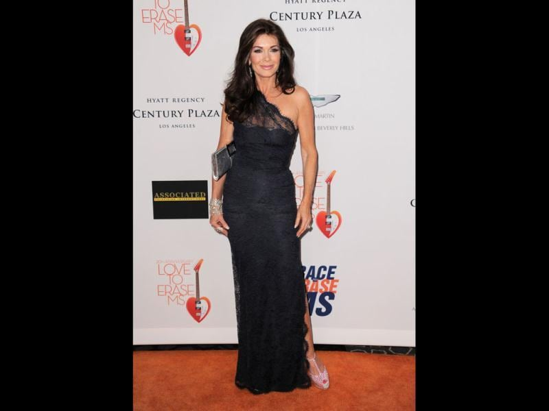 Lisa Vanderpump arrives at the 20th annual Race to Erase MS event Love to Erase MS at the Hyatt Regency Century Plaza in Los Angeles. AP Photo