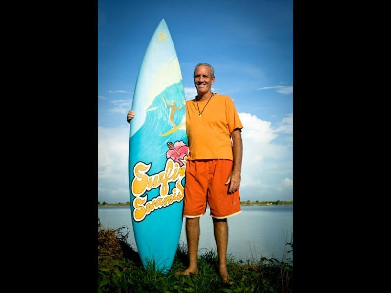 Jack Hebner, a.k.a. Surfing Swami, the pioneer of India's surfing movement (Photo: Rammohan Paranjape)