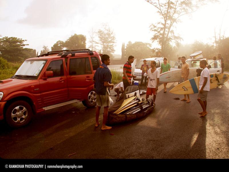 A group of surfers from the Mantra surf club, gearing up for a day of surfing. (Photo: Rammohan Paranjape)