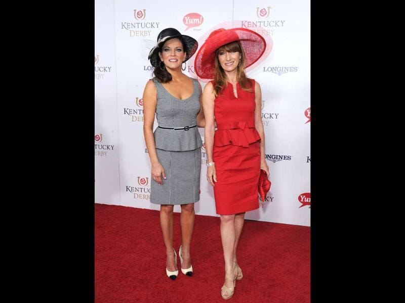 Martina McBride, left, and Jane Seymour walk the Kentucky Derby Red Carpet in Louisville. Longines, the Swiss watchmaker known for its famous timepieces, is the Official Watch and Timekeeper of the 139th annual Kentucky Derby. AP photo