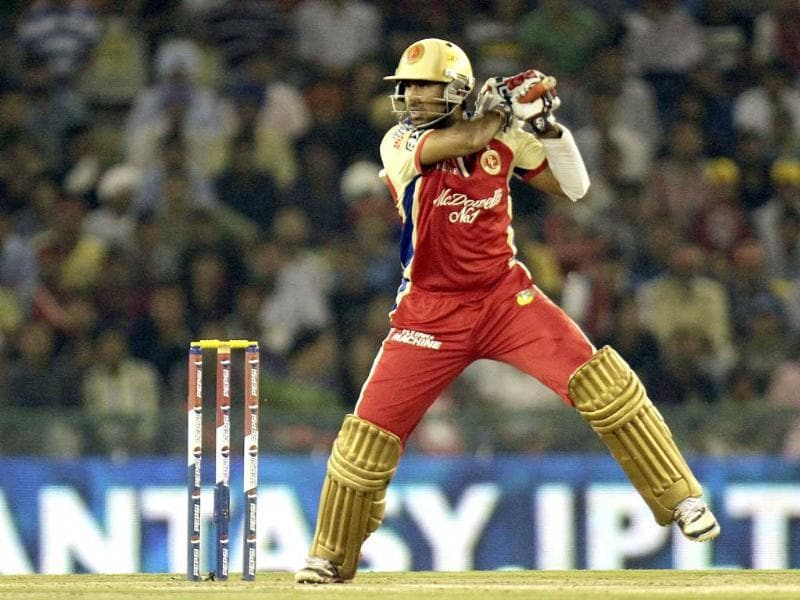 Royal Challengers Bangalore player C Pujara in action during the T20 cricket match between Kings XI Punjab and Royal Challengers Bangalore at PCA Stadium, in Mohali. HT/Gurpreet Singh