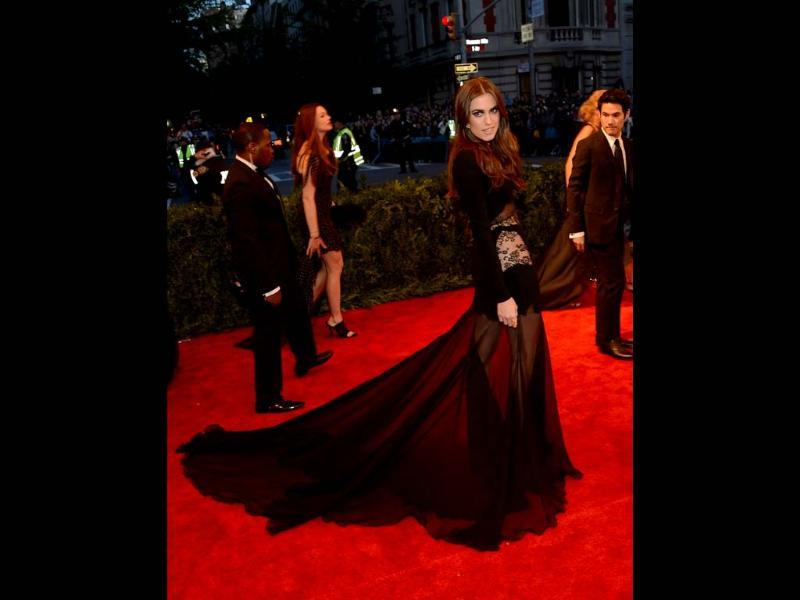Actress Allison Williams attends the Costume Institute Gala for the