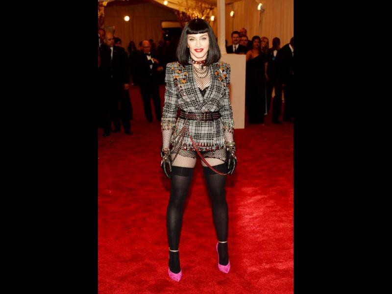 Madonna attends the Costume Institute Benefit at The Metropolitan Museum of Art May 6, 2013, celebrating the opening of Punk: Chaos to Couture. (Getty Images)
