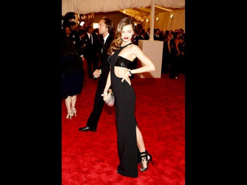 Miranda Kerr attends the 2013 Costume Institute Gala - PUNK: Chaos to Couture at Metropolitan Museum of Art on May 6, 2013 in New York City. (Getty Images)