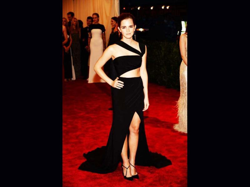 Emma Watson attends the Costume Institute Gala for the PUNK: Chaos to Couture exhibition at the Metropolitan Museum of Art in New York City. (Getty Images)