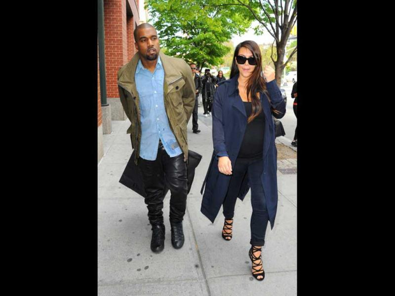 Kim Kardashian and Kanye West are seen in Soho on May 6, 2013 in New York City. (Photo courtesy: Getty Images)