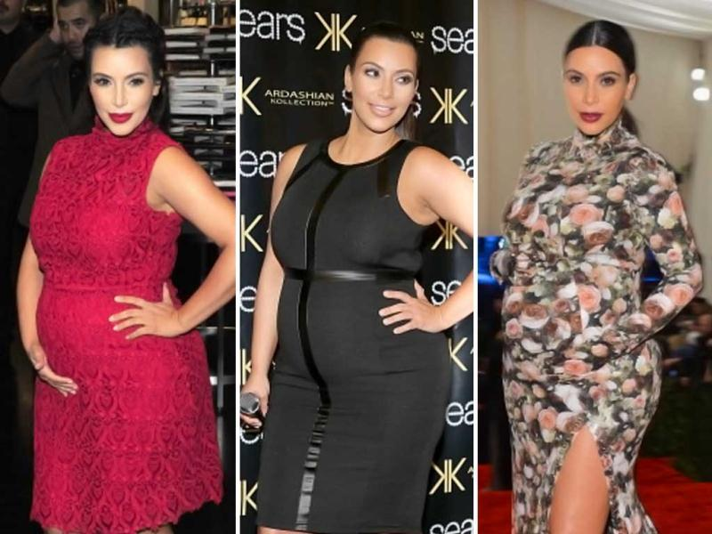 A very pregnant Kim Kardashian has been spotted attending several dos of late. High heels, check. Body-hugging numbers, check. Sadly, discomfort too, check. See for yourself!