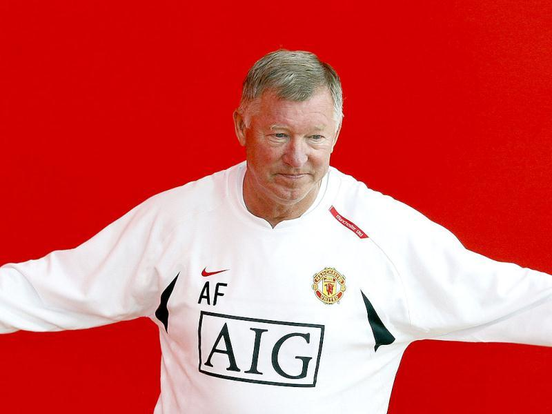 Manchester United manager Alex Ferguson gestures before a photocall at the club's Carrington training complex in Manchester, northern England, on July 9, 2007. (Reuters)