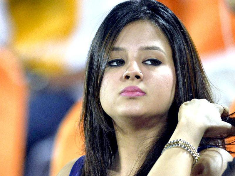 Sakshi Dhoni, wife of Chennai Super Kings captain M S Dhoni, watch T20 match against Sunrisers Hyderabad in Hyderabad. PTI