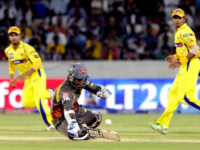 Chennai Super Kings player during T20 cricket match between Chennai Super Kings and Sunrise Hyderabad at Rajiv Gandhi International. Stadium, in Hyderabad. HT Photo/Anshuman Poyrekar