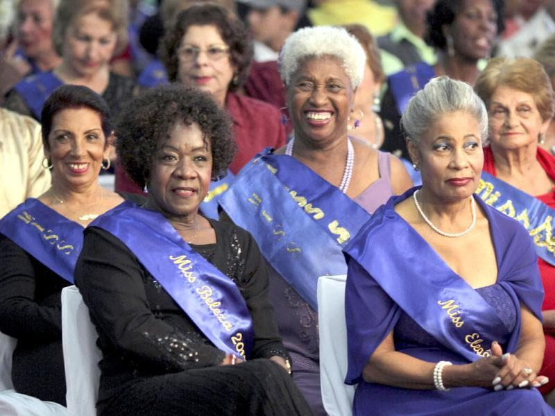Sao Paulo's Elderly Beauty women former winners attend the 2013 contest in Sao Paulo. The contest with 25 candidates is part of Mothers' Day celebrations which will be celebrated in Brazil on May 12. REUTERS