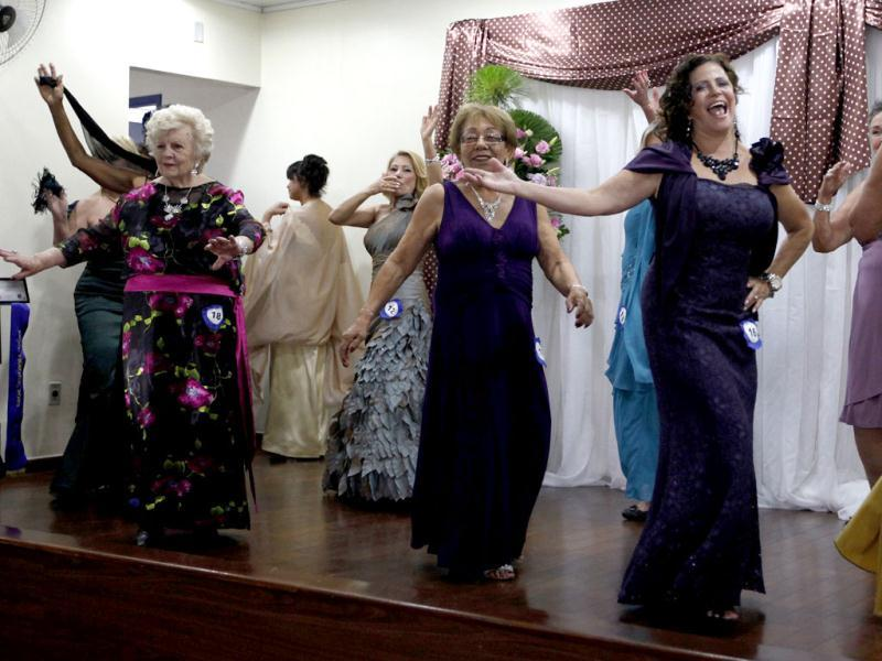 Competitors of the Sao Paulo's Elderly Women Beauty contest perform in Sao Palo. REUTERS