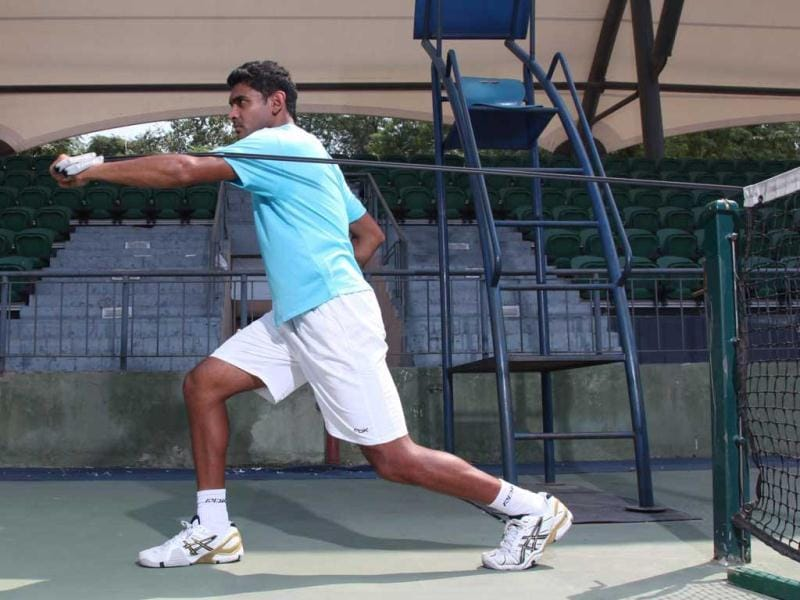 Forehand pulls build strong arms, back, waist and spine. (Photo courtesy: Anil Chawla)
