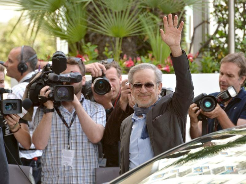 President Spielberg caught by paparazzi. (AFP Photo)