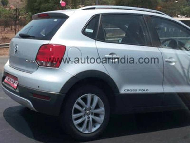 Volkswagen CrossPolo spied in India