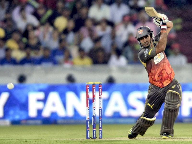 Sunrisers Hyderabad's batsman Hanuma Vihari plays a shot during a T20 match against Rajasthan Royals in Hyderabad. (PTI)