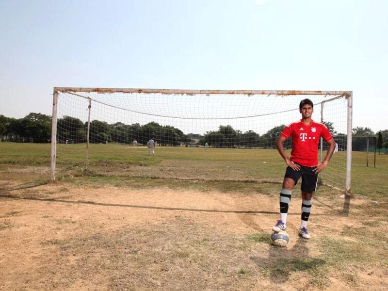 "For Pronoy Roy, football runs in the family. Zinedine Zidane and Oliver Kahn might be his favourite players, but his childhood inspiration was his own father, who represented India from '82-'86. Pronoy Roy himself has played with Kolkata's Mohammedan Sporting Club, Goa's Salgaocar FC and as the goalkeeper for Delhi. His fitness mantra: ""Try and jog 2.5 km every day in 20 minutes,"" he says. ""It isn't as tough as it sounds."" (Photo: Anil Chawla)"