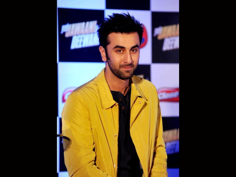 Actor Ranbir Kapoor attends a promotional event for his upcoming movie Yeh Jawaani Hai Deewani on May 17, 2013. (AFP Photo)