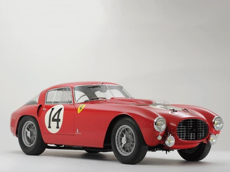1953 Ferrari 340/375 MM Berlinetta 'Competizione' by Pinin Farina : There are no pricing detials for this extremely rare vehicle, one of the most important racing Ferraris of all time but with the demand for cars with such heritage at an all-time high, the final price could be many millions. Photo:AFP