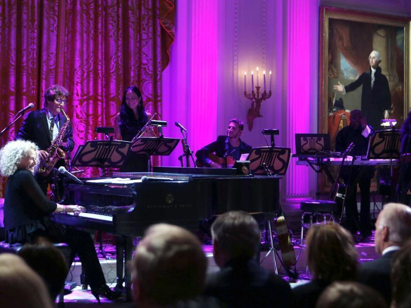 Singer Carole King sings after US President Barack Obama presented her the 2013 Library of Congress Gershwin Prize for Popular Song at an In Performance at the White House concert honoring King in the East Room of the White House in Washington. Reuters