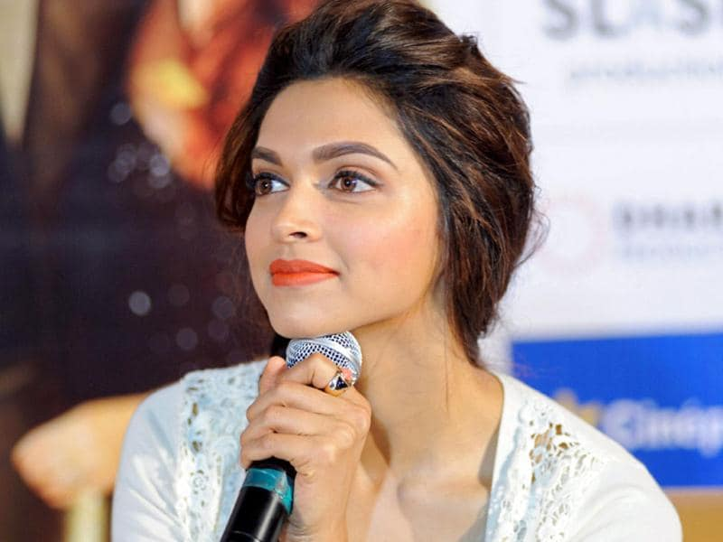 Bollywood actoress Deepika Padukone during a press conference for the promotion of her upcoming film Yeh Jawaani Hai Deewani in Ahmedabad on Saturday. (PTI Photo)
