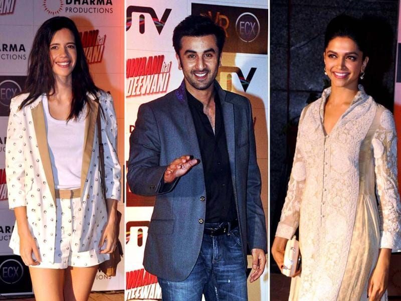 Ranbir Kapoor, Deepika Padukone and Kalki Kochelin were not dressed in symmetry at the special screening of Yeh Jawaani Hai Deewani, something that has been a trend of late. Find out who wore what!