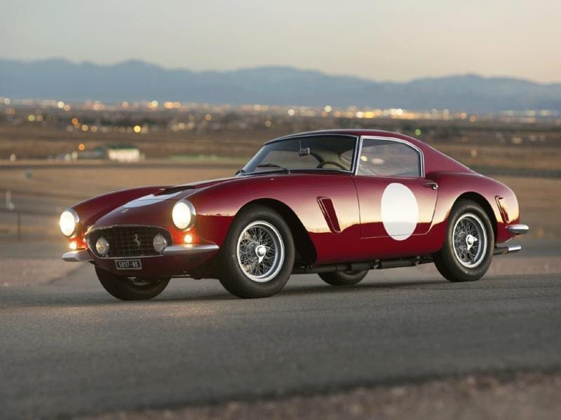 1960 Ferrari 250 GT SWB Berlinetta 'Competizione' by Carrozzeria Scaglietti $8,140,000 (2013) : One of Ferrari's best road and track cars - it could compete in an endurance race then be driven home 'comfortably' afterwards, the short wheelbase (SWB) is extremely rare and this is one of very few examples that was never raced in any real capacity. Photo:AFP