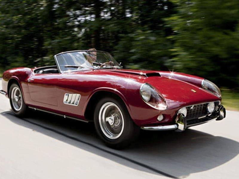 1960 Ferrari 250 GT LWB California Spyder Competizione $11,275,000 (2012) : Not the most expensive Ferrari but still a record for a California Spyder of any derivation. One of the very best examples of what happens when design and performance are perfectly wedded together. Photo:AFP
