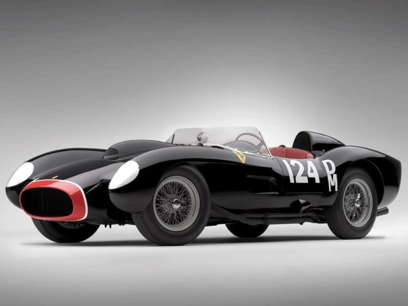 1957 Ferrari 250 Testa Rossa $12,402,500 (2009) : Another Testa Rossa and briefly the most expensive Ferrari ever sold at auction when it went under the hammer at the Ferrari Leggenda e Passione Auction in 2009. This one won Le Mans three times. Photo:AFP