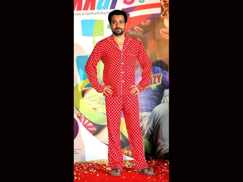 Emraan Hashmi poses at the promotion of Ghanchakkar on May 30, 2013. Do you like his pajama-look?(AFP Photo)
