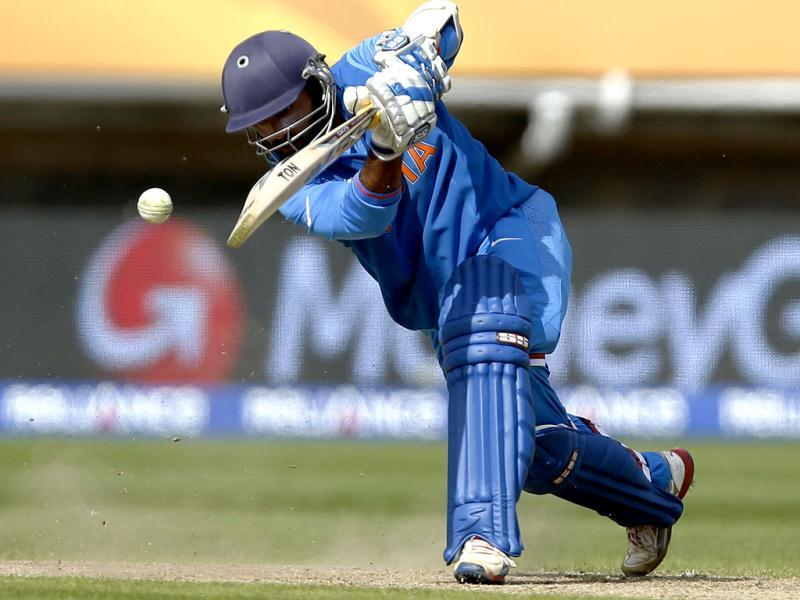 India's Dinesh Karthik bats against Sri Lanka during their ICC Champions Trophy warm-up cricket match at Edgbaston cricket ground in Birmingham, England. AP/Sang Tan