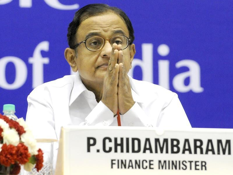 Finance minister P Chidambaram during the chief ministers' conference on internal security in New Delhi. HT Photo/Sunil Saxena
