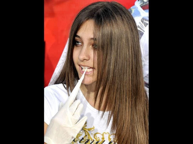 File photo of Paris Jackson, Late pop icon Michael Jackson's daughter, who was rushed to a California hospital after trying to commit suicide. (AFP Photo)