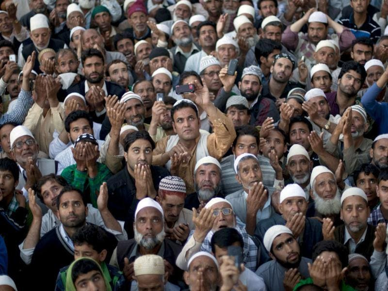 Thousands of Muslims converge annually for celebrations at the shrine near the summer capital of the state of Jammu and Kashmir