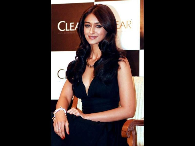 Ileana wore a black gown with a plunging neckline to the event in Mumbai. (AFP Photo)