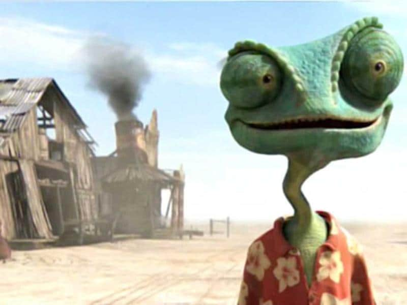 Johnny turns into a lizard for Rango. (2011)