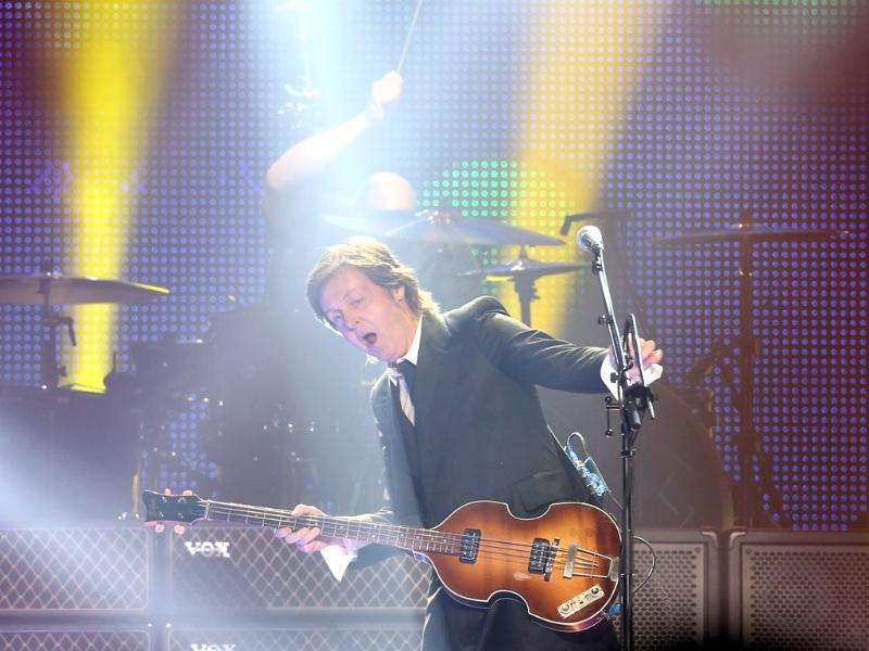 Sir Paul McCartney performs on stage during his 2013