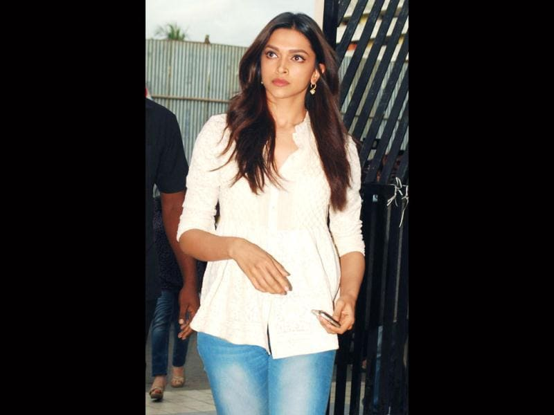 Deepika Padukone also attended the meet. (AFP Photo)