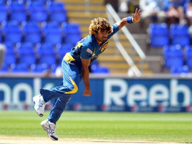 Lasith Malinga delivers a ball during the ICC Champions Trophy cricket match between Sri Lanka and New Zealand at The Cardiff Wales Stadium in Cardiff, Wales. AFP