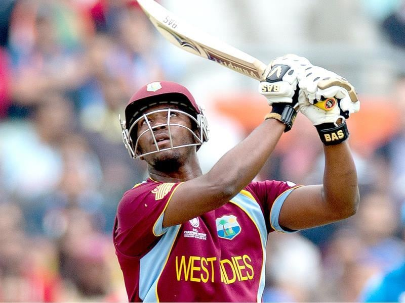 West Indies' Johnson Charles during the ICC Champions Trophy match between India and West Indies in London. AP