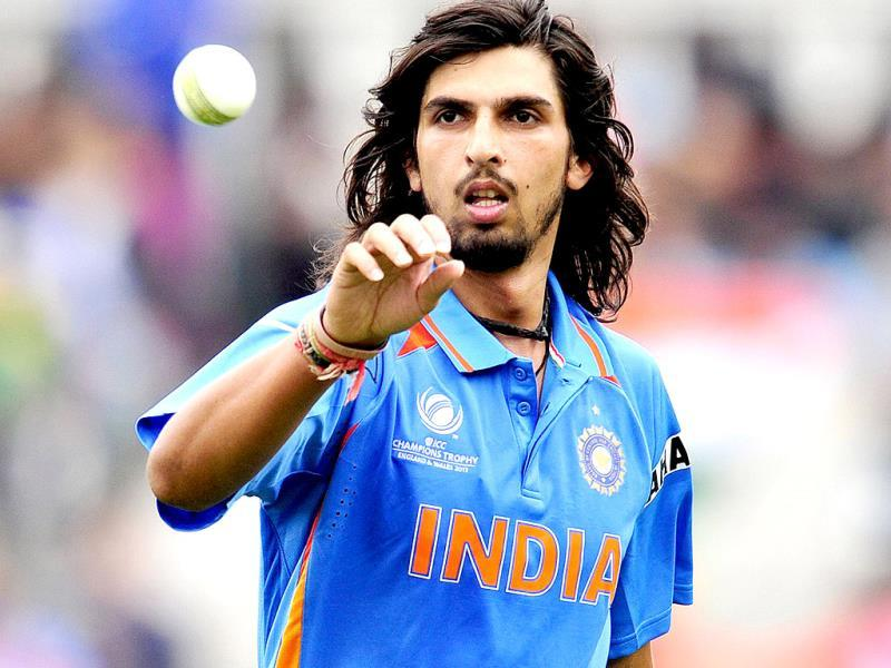 Ishant Sharma bowls during the Champions Trophy cricket match between India and West Indies at The Oval in London. AFP